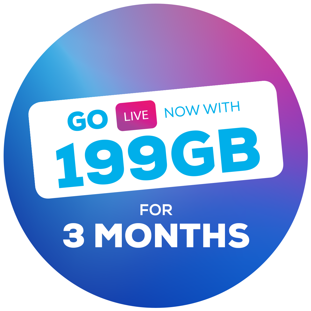 199GB for 3 months